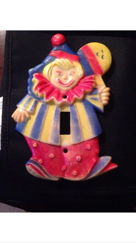 This Item Is Unavailable Etsy Vintage Clown Light Switch Plates Switch Plates
