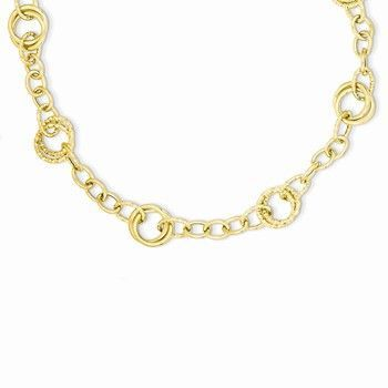 14K Yellow Gold Polished Fancy Link Chain