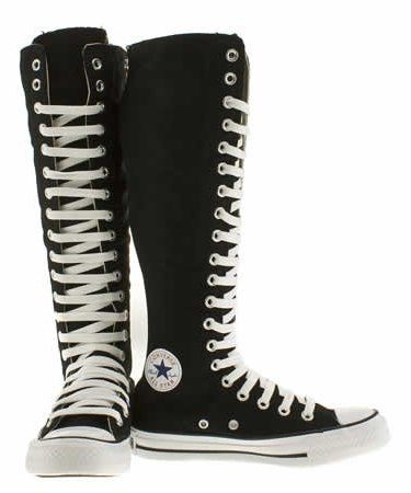 boots that come to your knees | All Star Knee High Black Converse For Girls