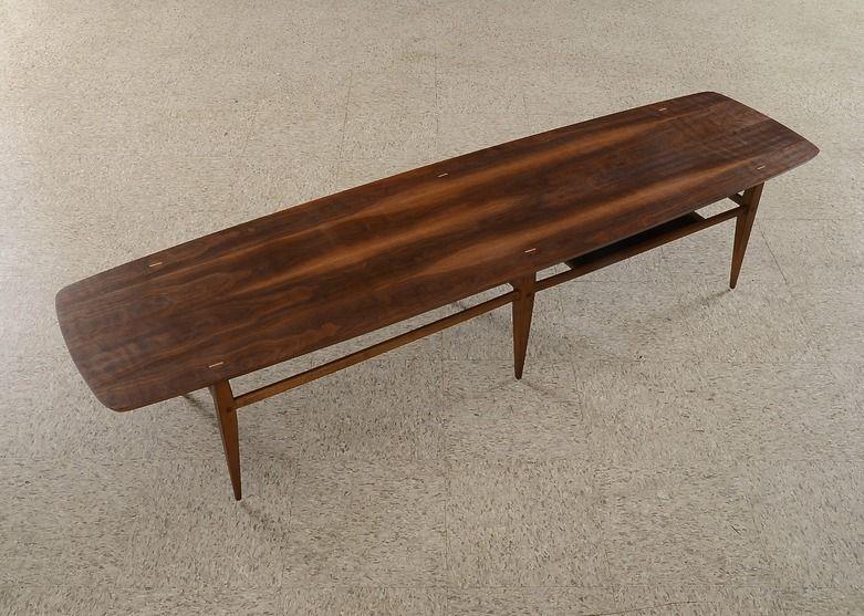 Mid Century Modern Lane Coffee Table Style 991 09 Coffee Table Surfboard Coffee Table Lane Coffee Table