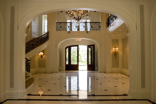 Luxury foyers in luxury homes new house home - Luxury foyer interior design ...