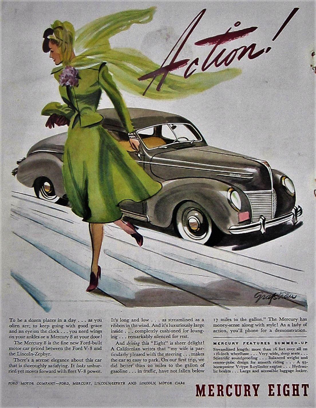 1939 Mercury Eight Automobile Vintage