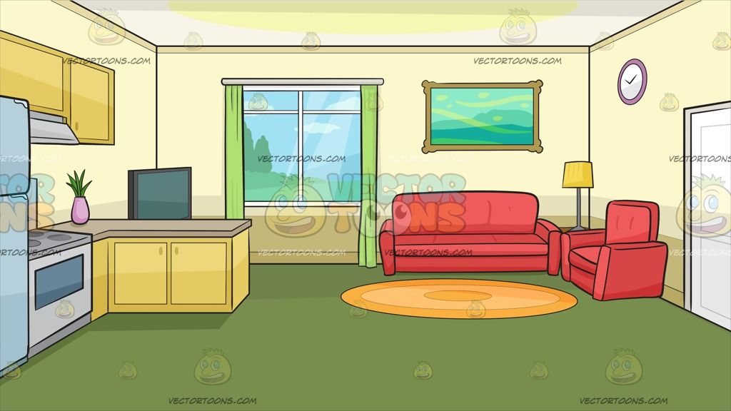 The Kitchen And Living Room Of A Small House Background Yellow Living Room Living Room Red Pale Yellow Walls