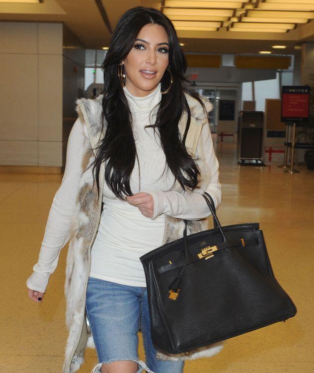 Kim Kardashian With Hermes Birkin Show Style Jenner Chic