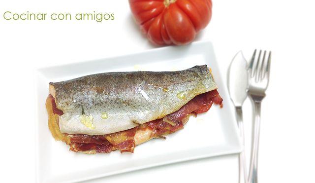 Cocinar Truchas | Cocinar Con Amigos Trucha Rellena De Jamon Y Tomate Mayo 2014