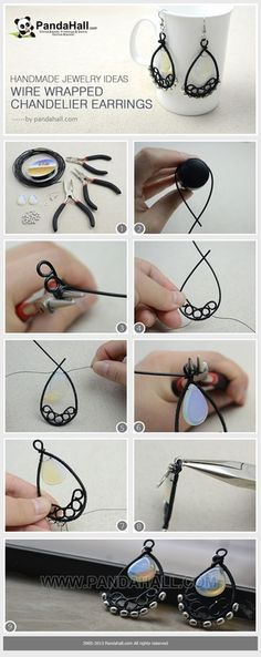 Jewelry Making Tutorial--How to Make Wire Wrapped Chandelier Earrings