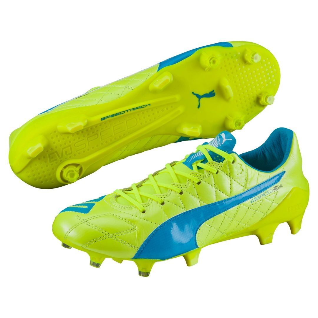 The Puma evoSPEED SL Leather soccer cleats use a soft leather upper to give  you the