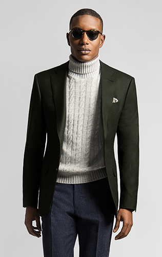 c71ce16a19 See how to pull off the turtleneck with suit look with ease and style.