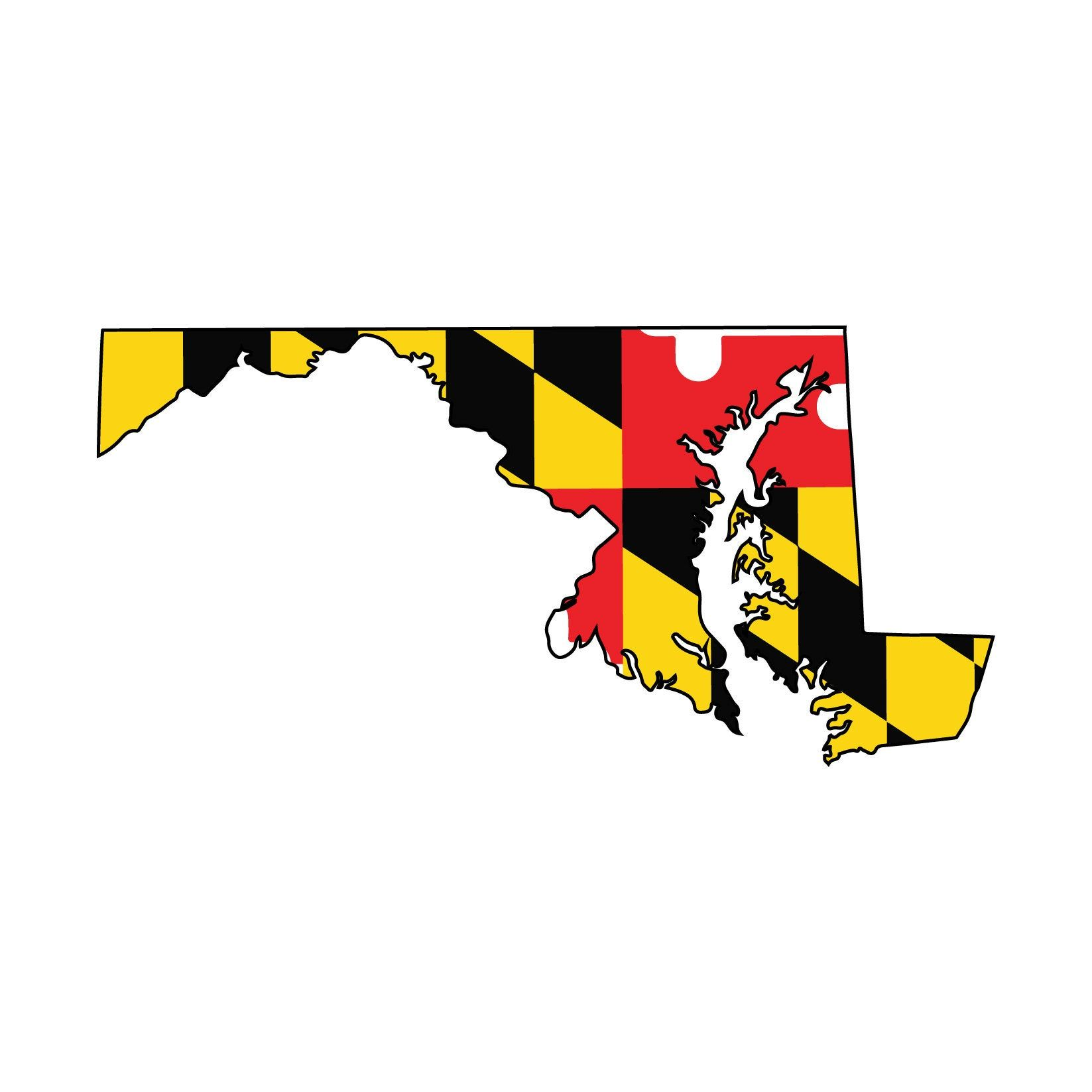 Maryland Flag Vehicle Decal Maryland Flag State Sticker By Angprintinganddesign On Etsy In 2020 Maryland Flag Maryland Flag Decal Car Decals