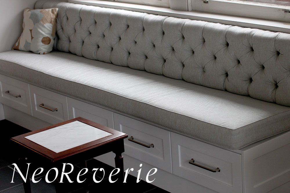Tufted drawer banquet. Perfect for those infrequently used items ...