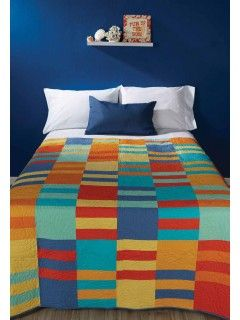 The bold, summery colors make it right at home spread out on the beac | InterweaveStore.com