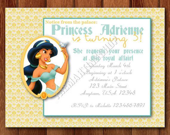 Princess jasmine birthday party invitation by themartinsshop princess jasmine birthday party invitation by themartinsshop stopboris Gallery