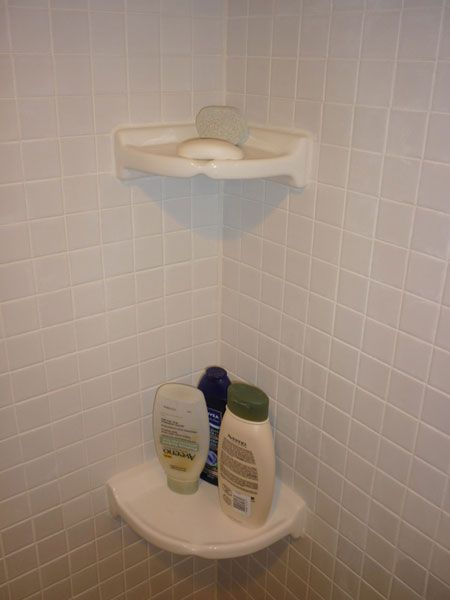 Ceramic, Corner, Shower Shelves