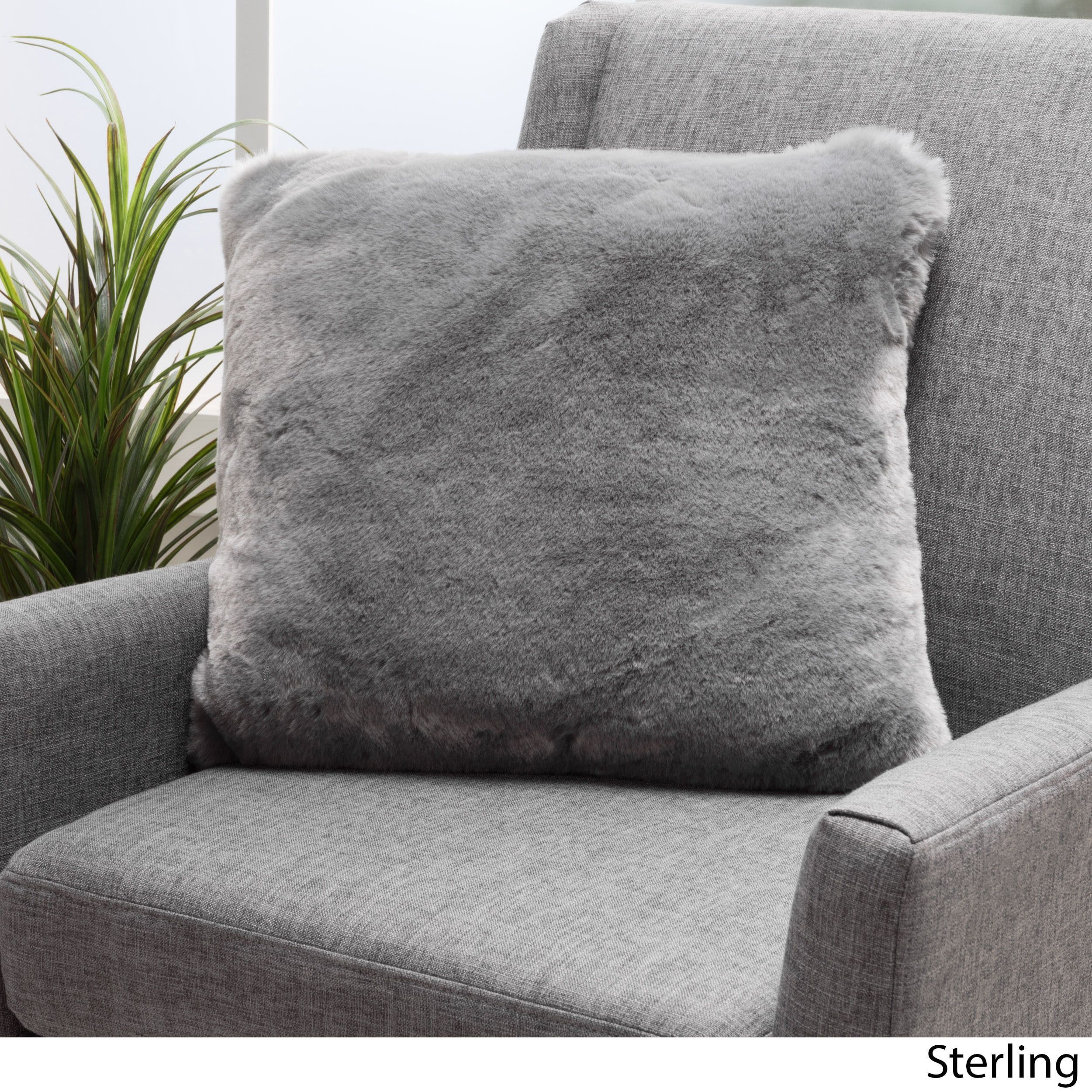 Christopher knight home elise faux fur square throw pillows set of