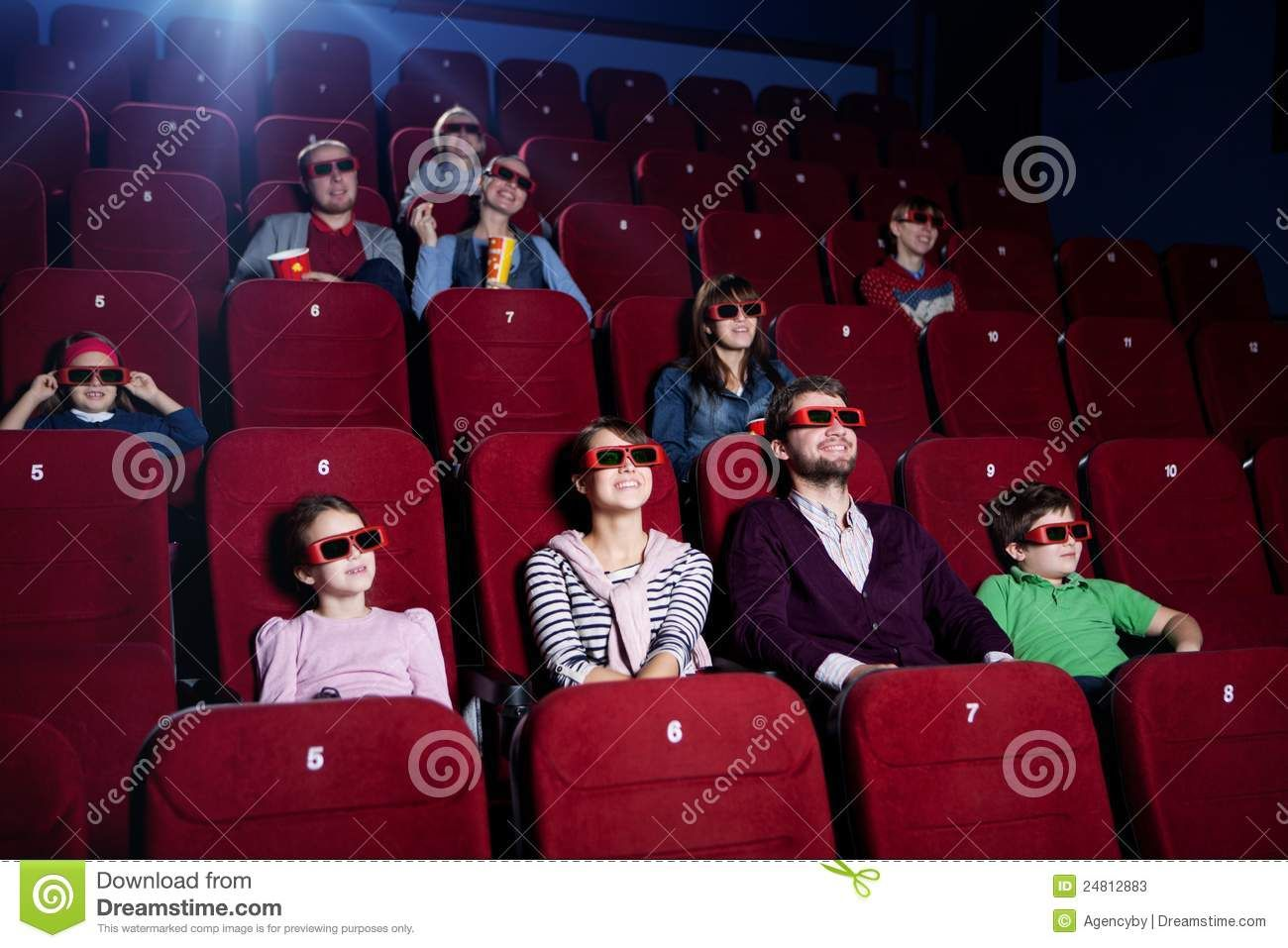 People In 3d Movie Theater Stock Image Image Of Glasses 24812883 Stock Photos People Movie Theater Image