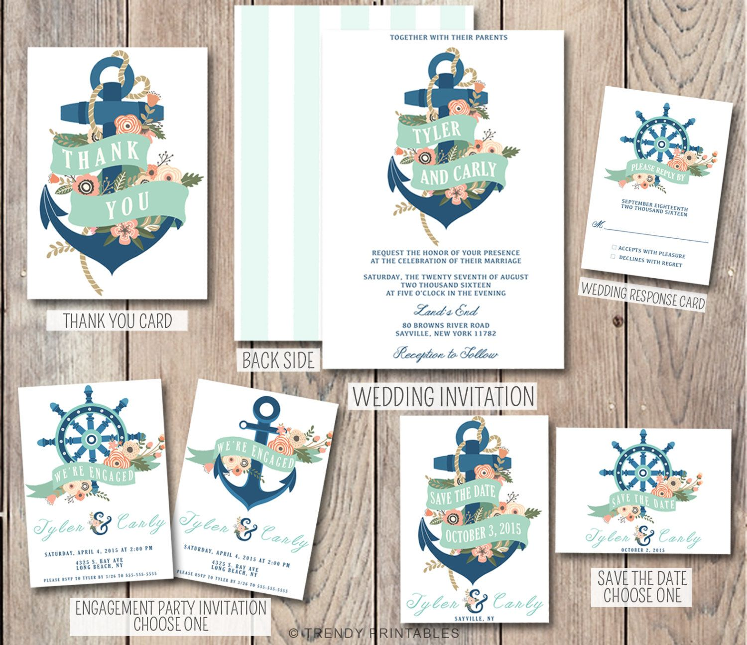 Anchor Wedding Invitation Nautical Wedding Invitation Engagement Party Invite Anchor Save The Date Nautica Invitaciones De Boda Boda Marinera Cosas De Boda