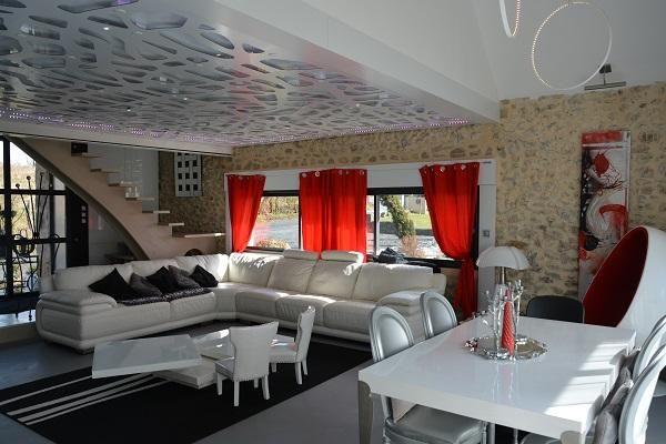 Espace vivre faux plafond d coratif et clairage - Faux plafond decoratif ...