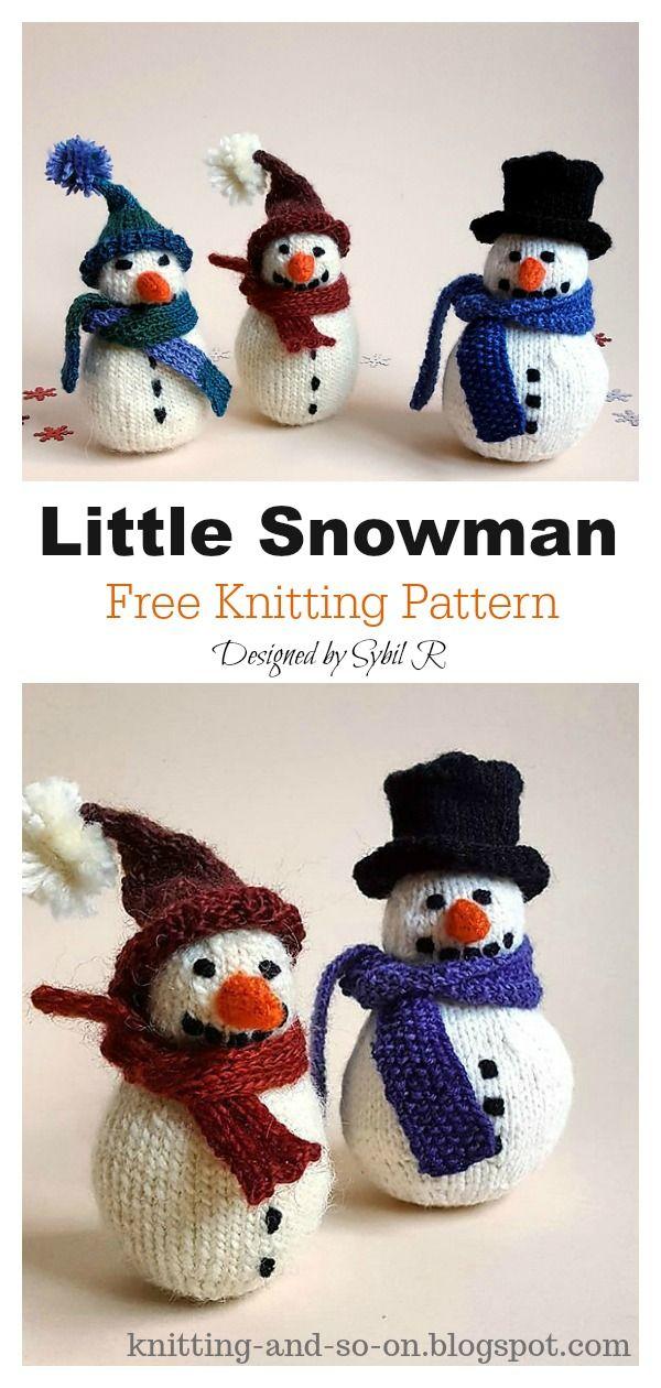 Amigurumi Snowman Free Knitting Pattern | Christmas ...