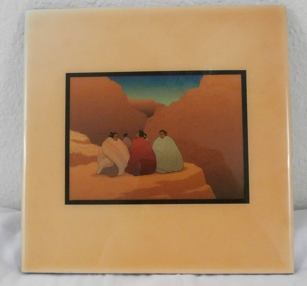 R c gorman navajo artist southwestern art tile twilight in the r c gorman navajo artist southwestern art tile twilight in the grand canyon dailygadgetfo Image collections