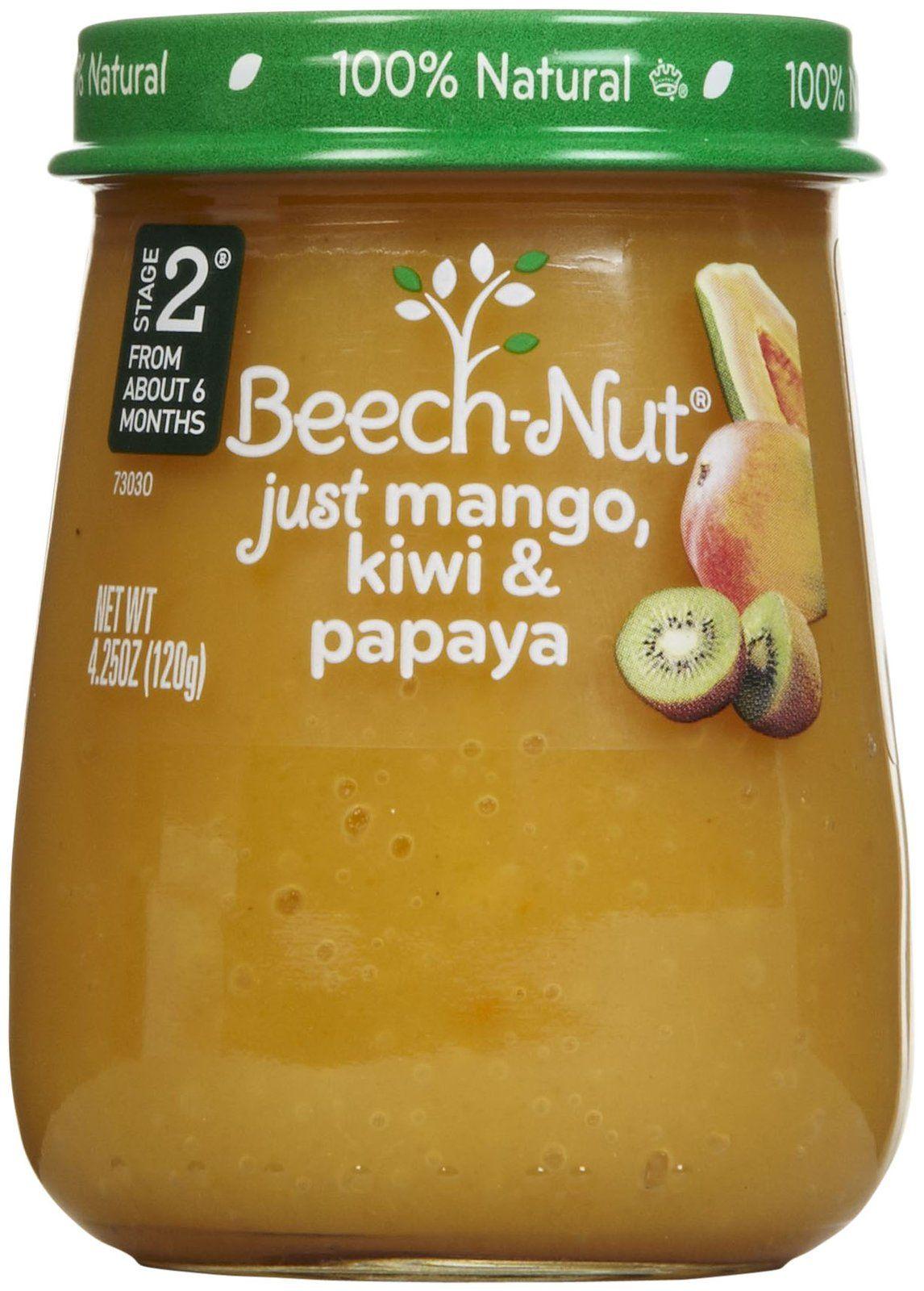 Beechnut stage 2 just purees mango kiwi papaya