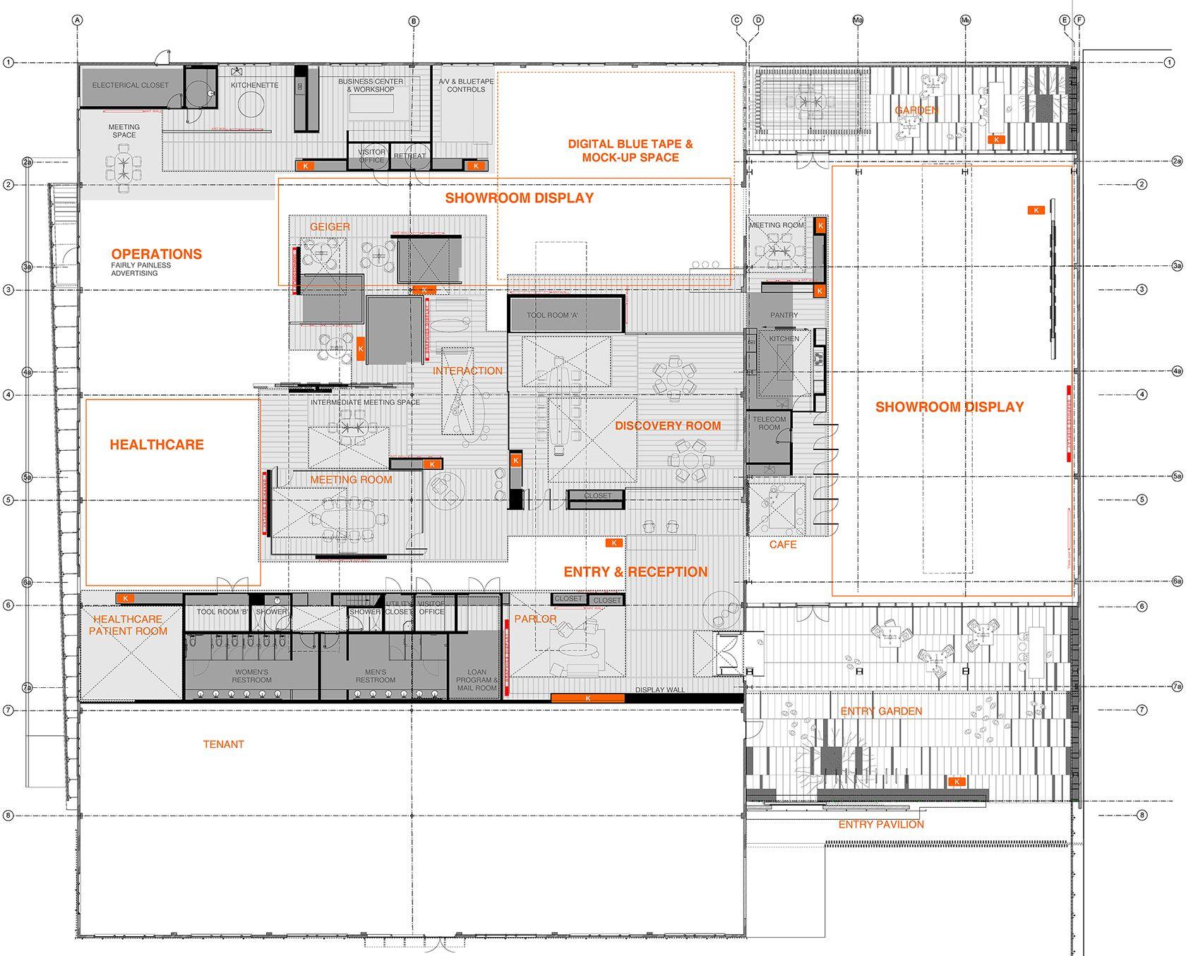 floor plan | herman miller national design center | diagrams ...