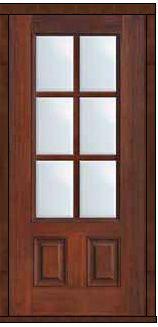 Prehung Tempered glass Double Glazed Fiberglass 3/4 Lite