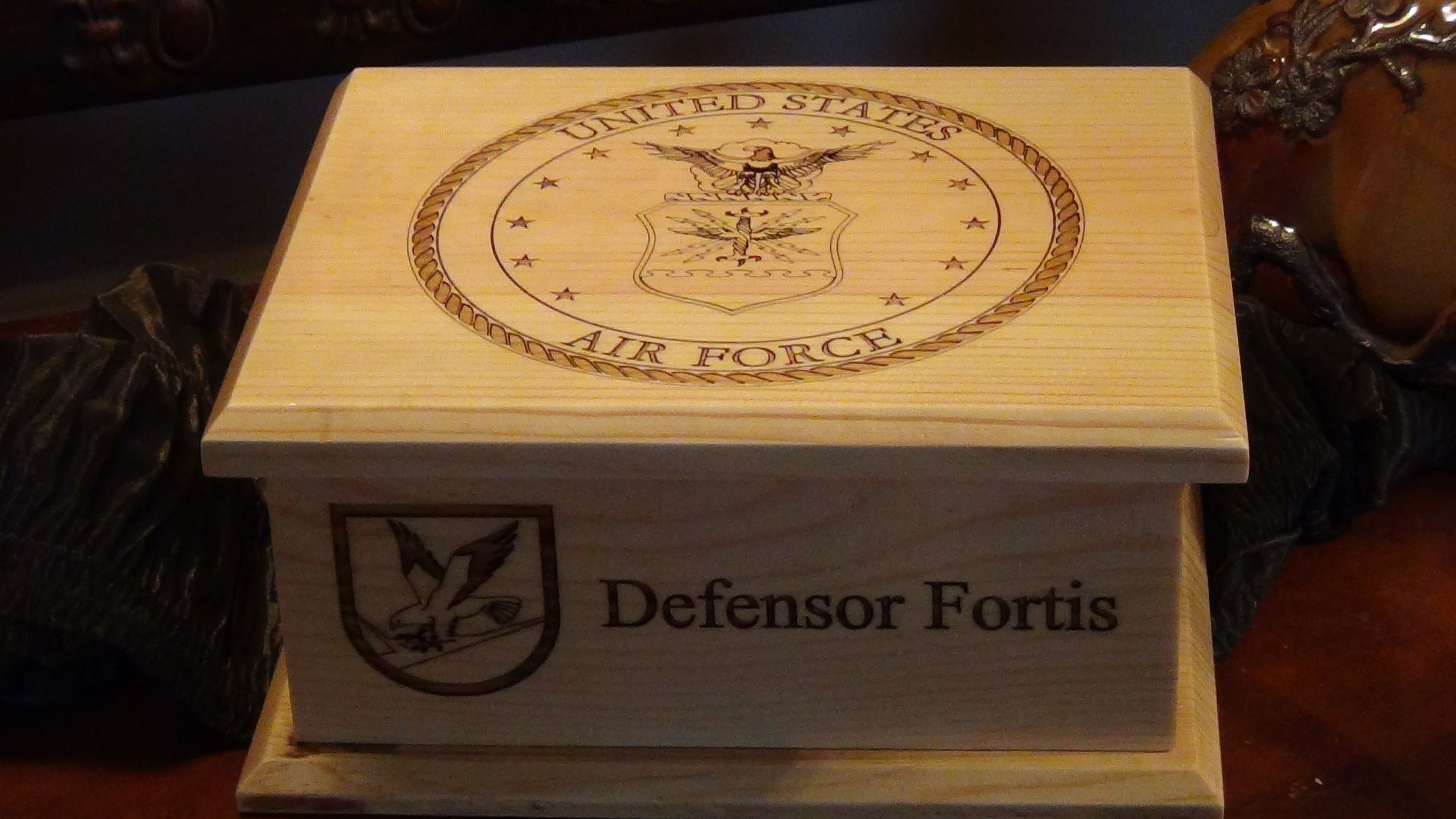 Our new updated Air Force Keepsake box Air force