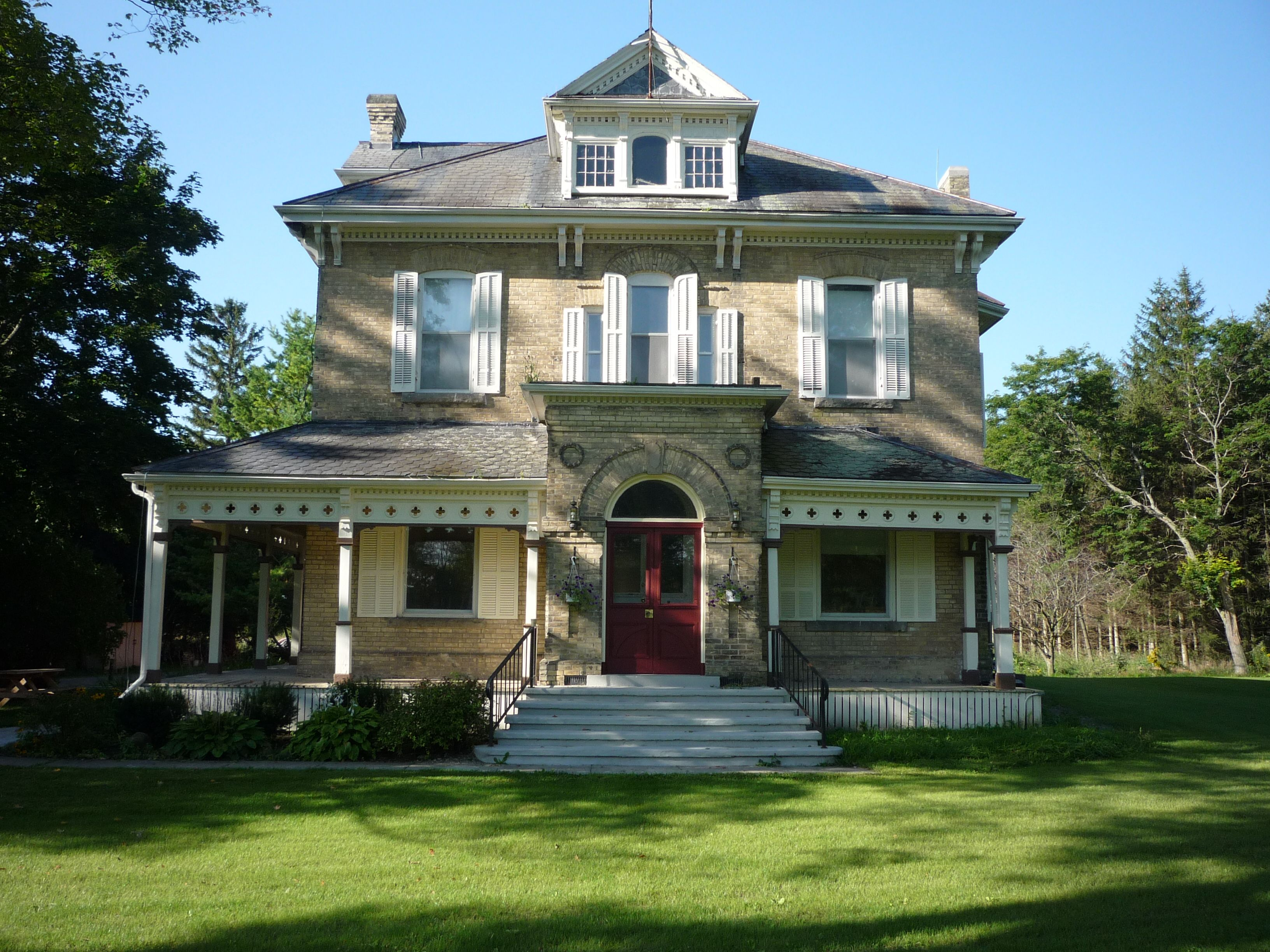 Italianate Farmhouse Stratford Perth Museum 4275 Huron Rd West This Stately Brick