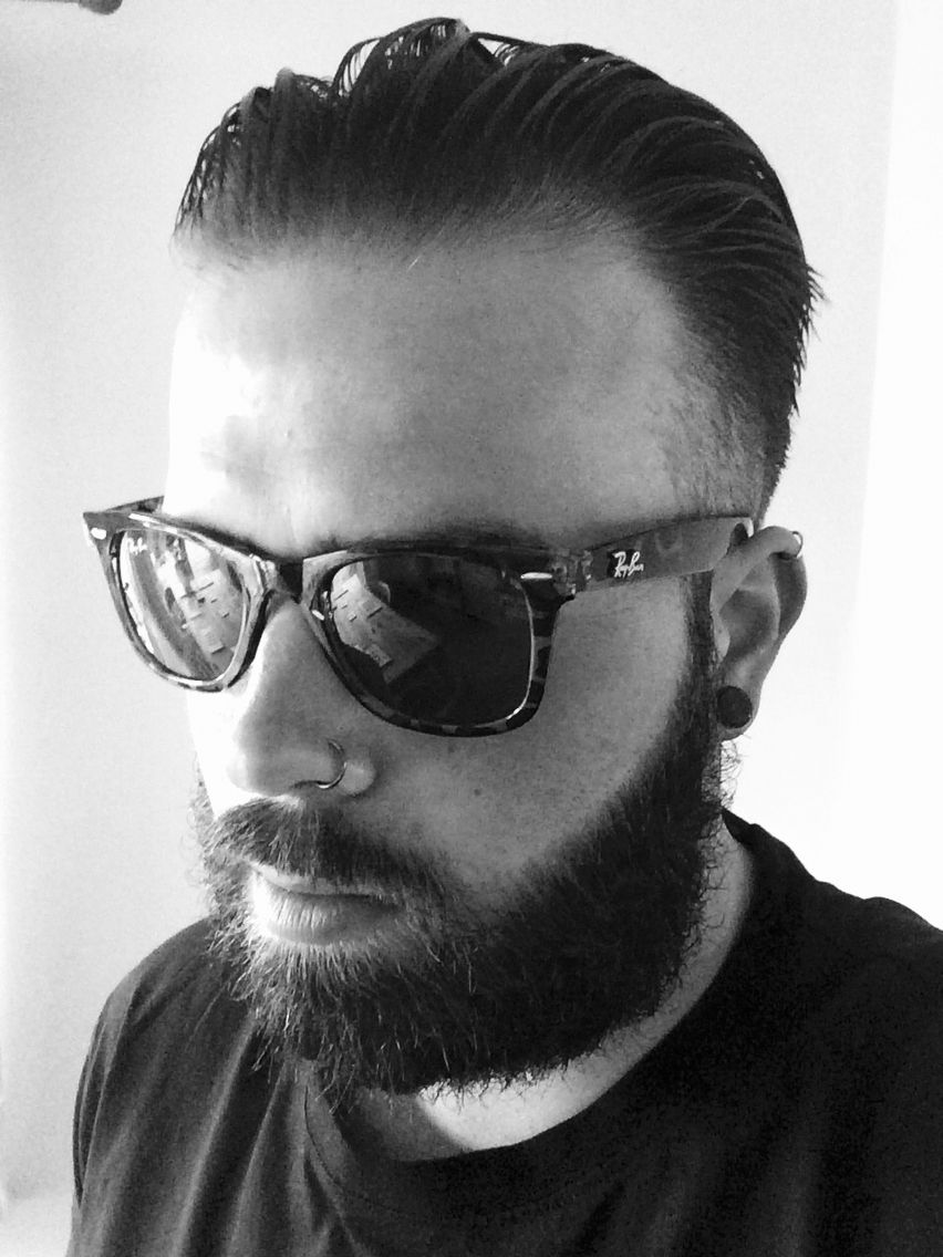 Ray-Ban Clubmaster sunglasses on Nathan #moustache   Hair/beards and beanies   Pinterest   Nose