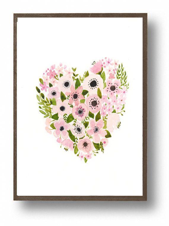 Hogar flores de vivero impresión guardería hogar por zuhalkanar