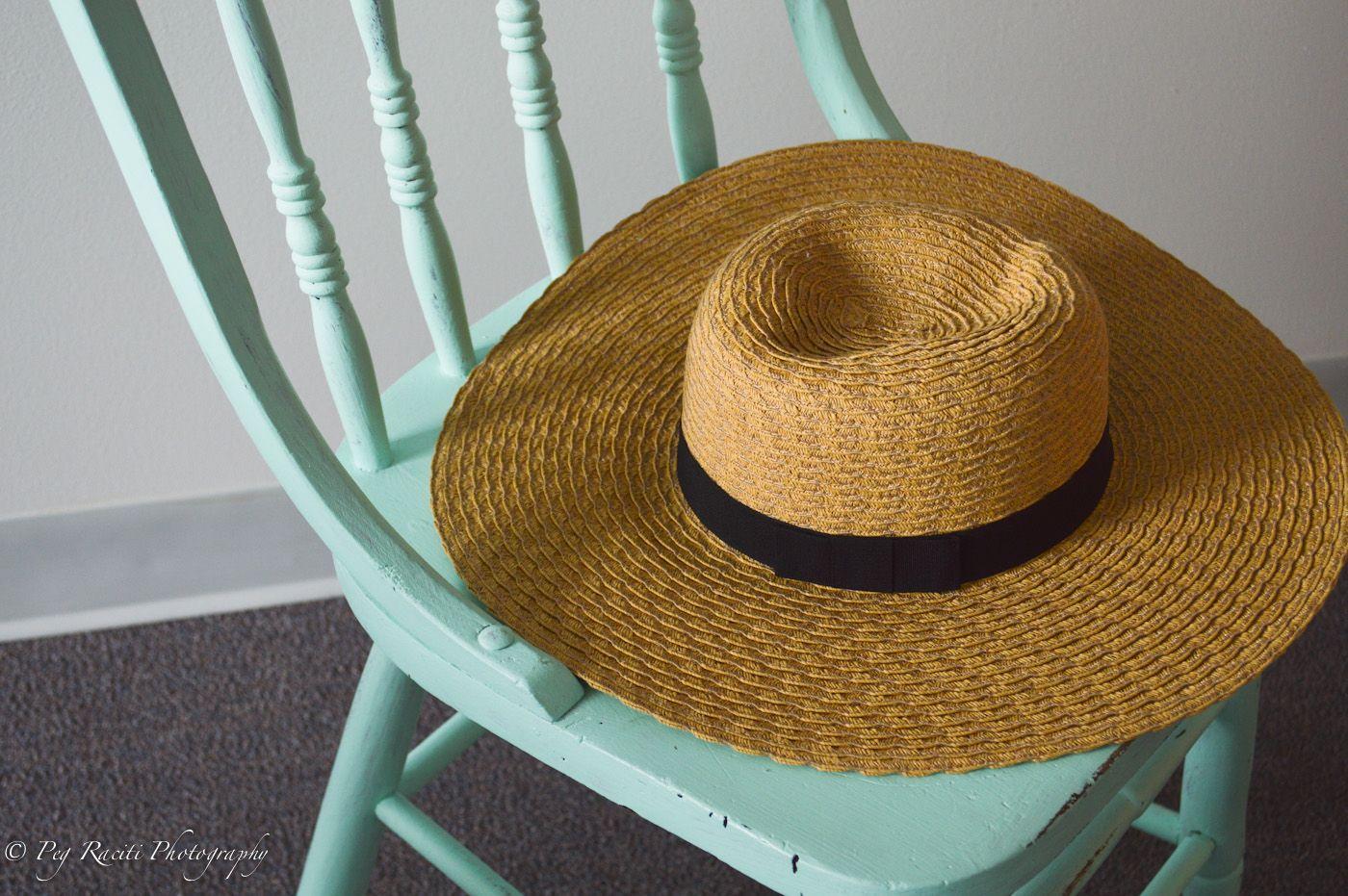 Robin Egg Blue Chair U0026 Straw Hat Peg Raciti Photography