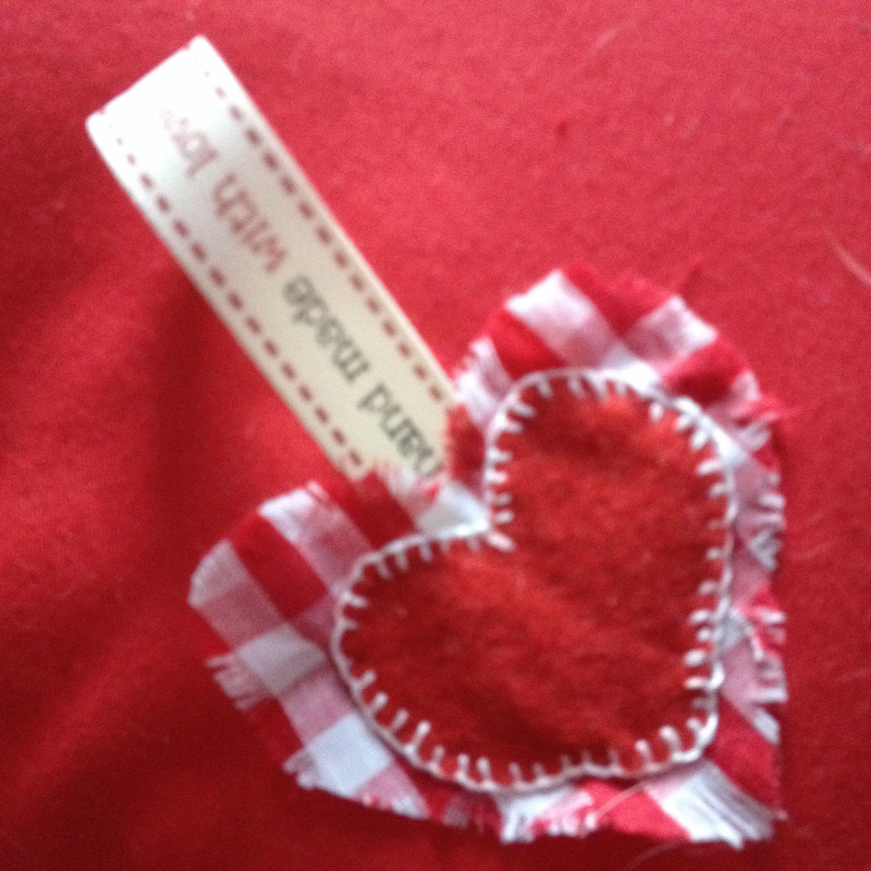 Reverse of valentine cushion