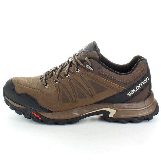 Salomon mens Salomon Mens Eskape Leather Walking Hiking Shoes L366819 Brown