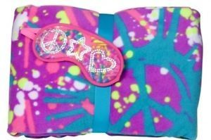 Justice Room Stuff | Justice Girls Style My Room Peace Paint Splash Fleece Blanket Eyemask .
