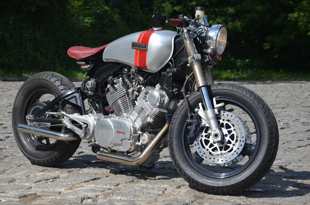 Yamaha Xv 750 Custom Bobber Cafe Racer Bratstyle Motocikl