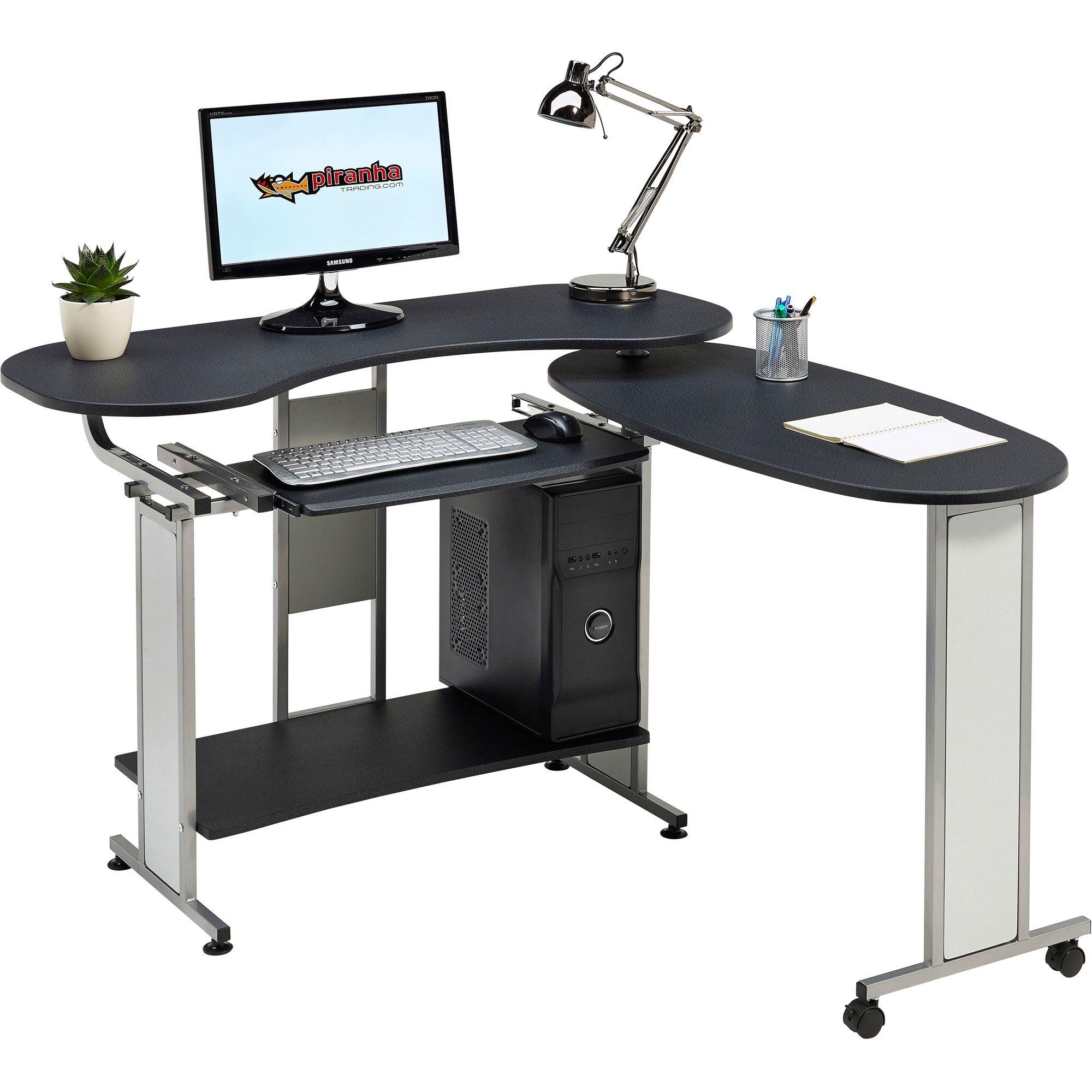 desk tables home office. Compact Folding Computer Desk W Shelf Home Office - Piranha Furniture Mako PC 3g | EBay Tables