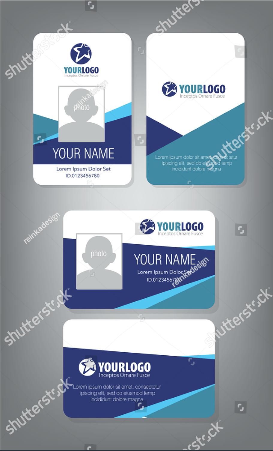 43 professional id card designs  psd eps ai word