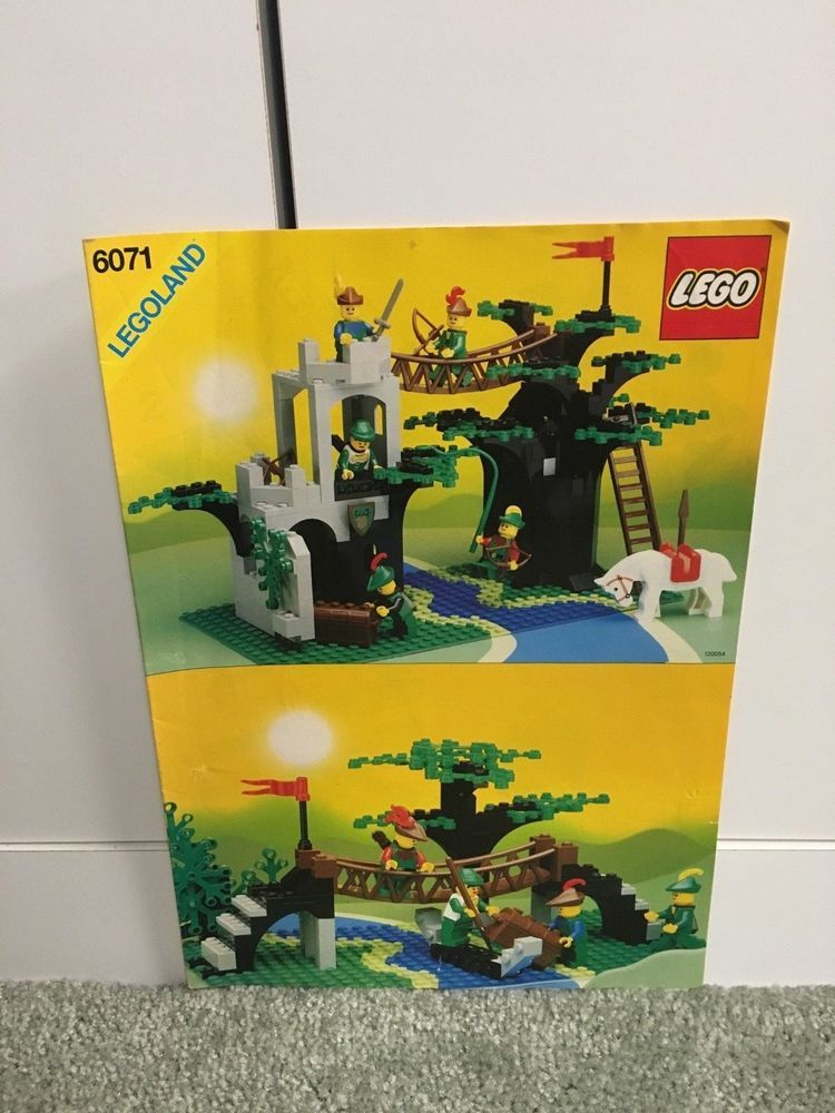 Lego Castle Forestmens Crossing 6071 Instruction Booklet Only
