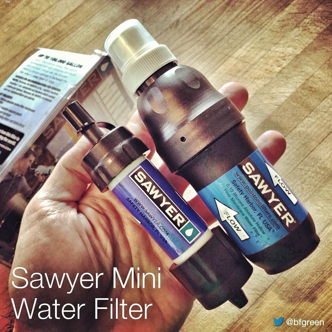 Forget Bottled Water Madness This 2oz 0 1 Micron Sawyer Water Filter Is Good For 100000 Gallons And Costs 2 Sawyer Water Filter Dish Soap Bottle Water Bottle