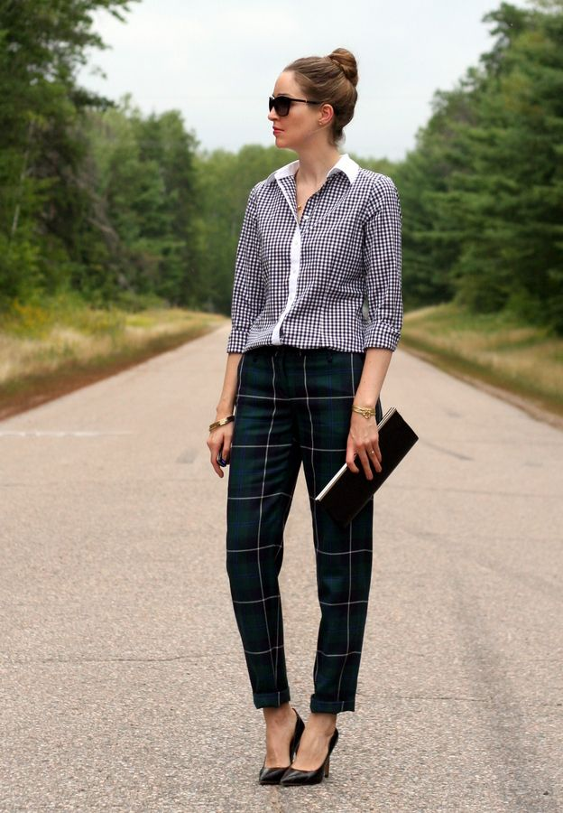 Top 25 ideas about Plaid pants on Pinterest | Trousers, Topshop ...