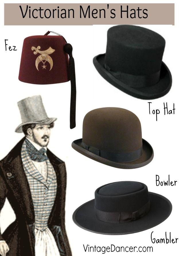 victorian men s hats