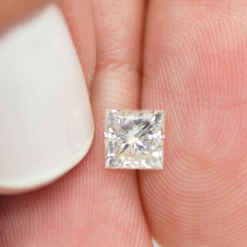 Princess Shape 0 96 Carat G Si2 Natural Loose Diamond Clarity Enhanced For Ring Mydiamonds Natural Diamonds Diamond Princess Diamond