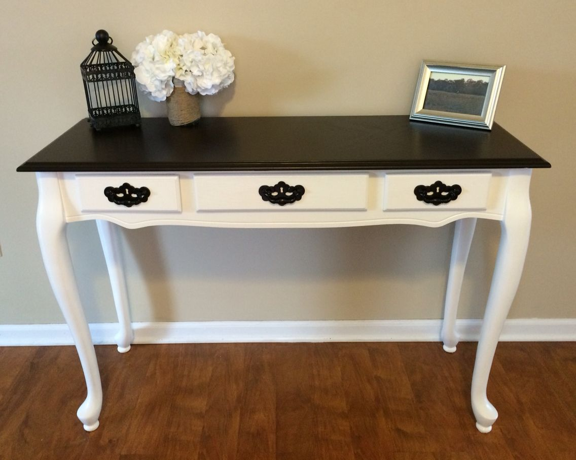 Queen Anne Sofa Entryway Table Refinished Www Facebook Fromattictoamazing