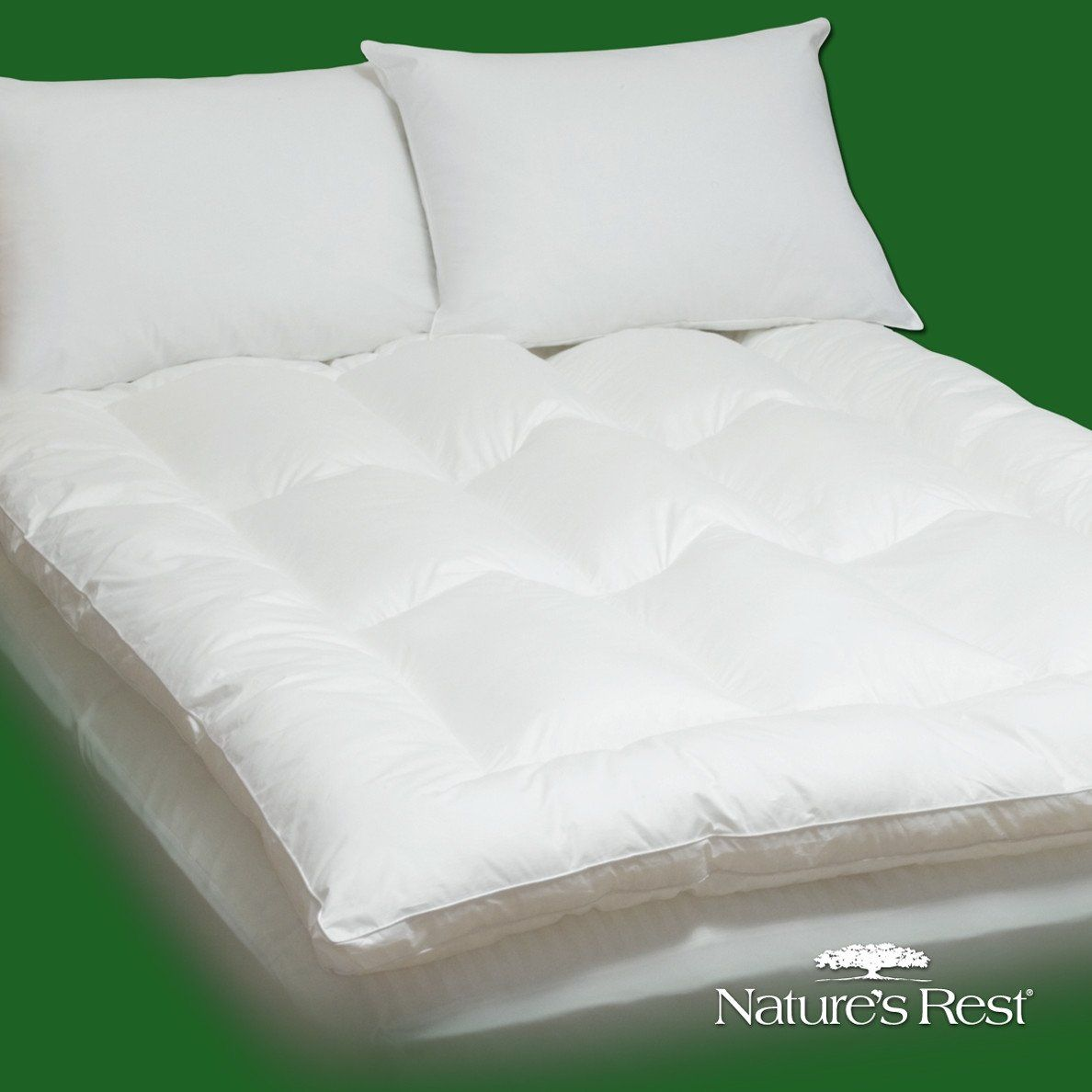 king size fiber bed mattress pad topper in 100 percent cotton bed