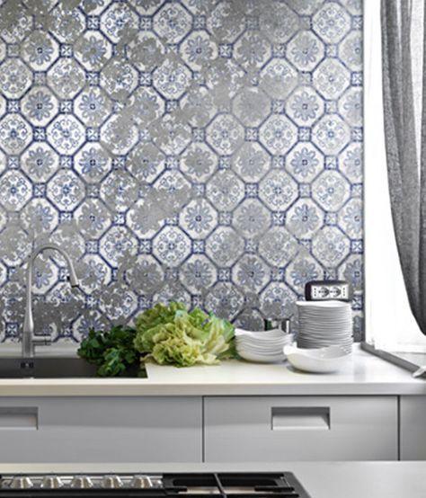 carta da parati geometrica per cucina | home sweet home | Pinterest