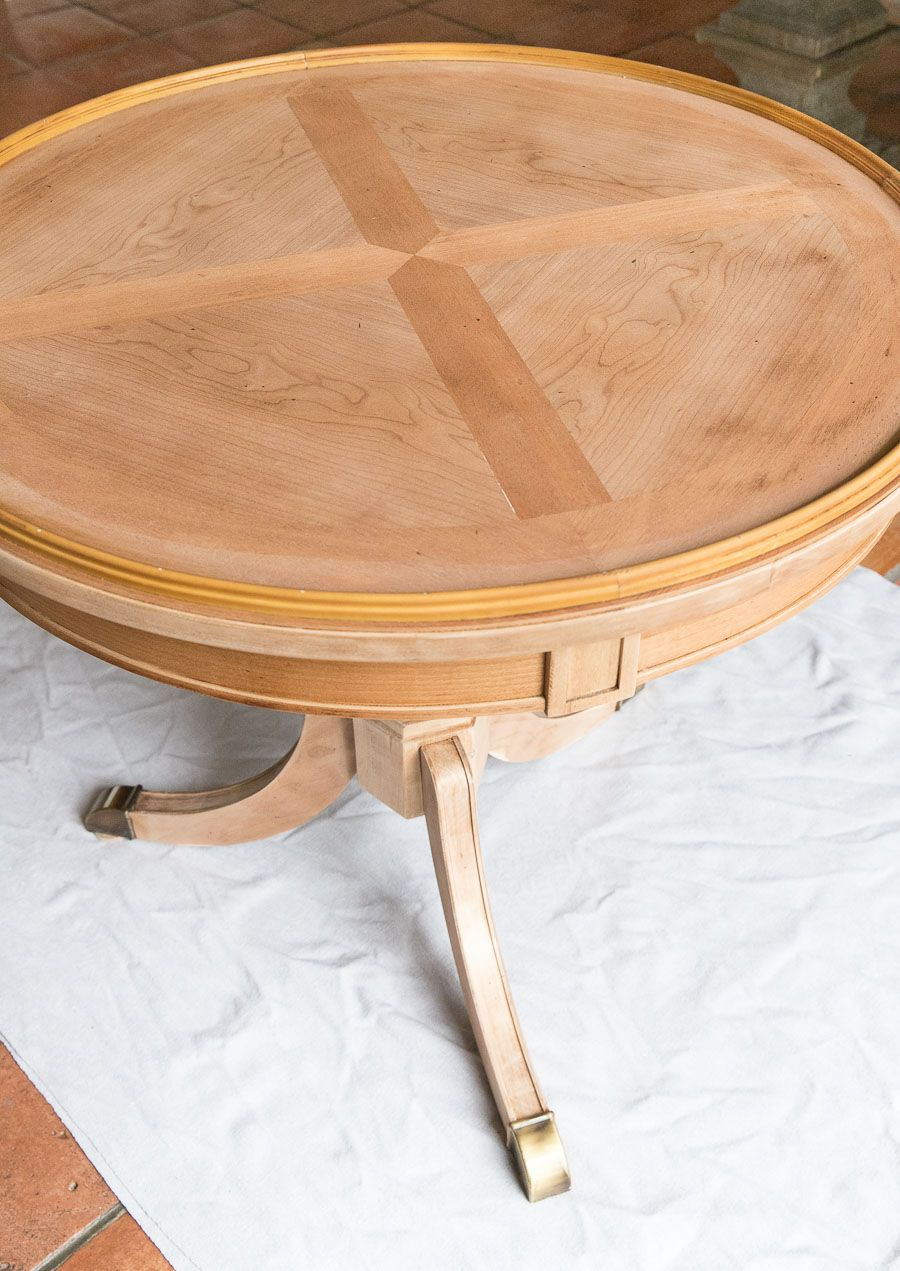 Refinishing A Table: How I Brought My Beat Up End