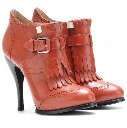 McQ Alexander McQueen Brogue Ankle Boots With Layered Fringe
