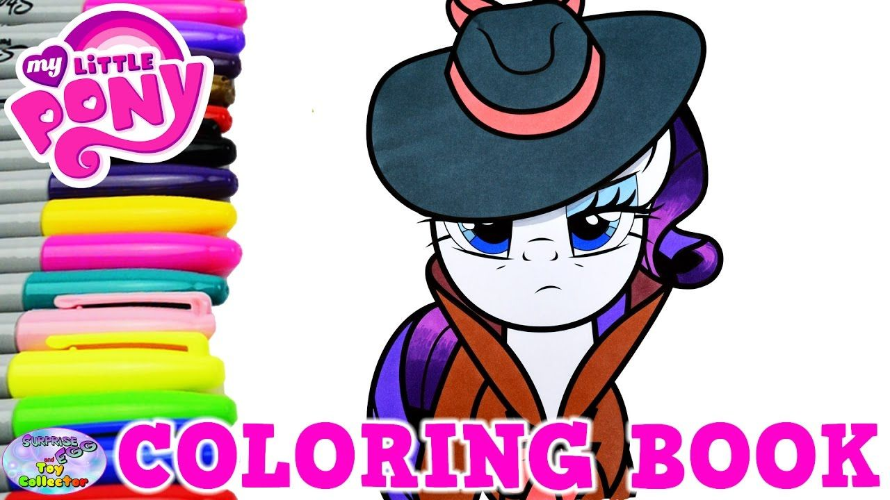 My Little Pony Coloring Book Rarity Detective Episode Surprise Egg ...