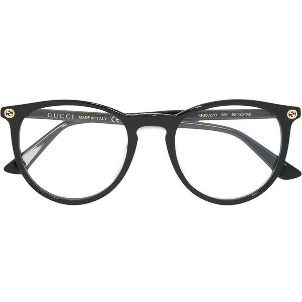 16b6abf3e Gucci Eyewear circular glasses (840 BRL) ❤ liked on Polyvore featuring  accessories, eyewear, eyeglasses, glasses, jewelry, black, filler, gucci  eyewear, ...
