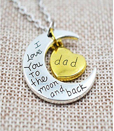 Leyu Fashion Silber plattiert Ich liebe dich zum Mond und zurück Dad Mond und Herz-Halsketten-Anhänger - http://schmuckhaus.online/leyu/dad-leyu-fashion-silber-plattiert-ich-liebe-dich